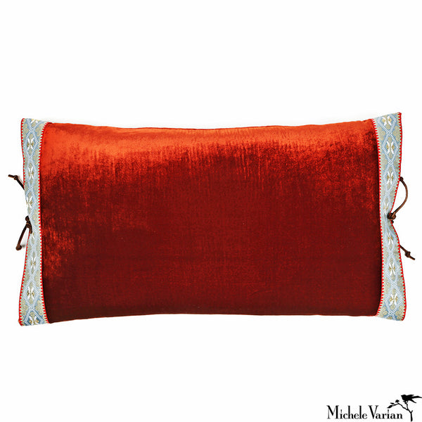 Silk Velvet Pillow Rust 12x22