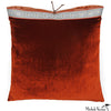 Silk Velvet Pillow Rust 20x20