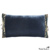 Silk Velvet Pillow Sailor Blue 12x22