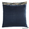 Silk Velvet Pillow Sailor Blue 20x20