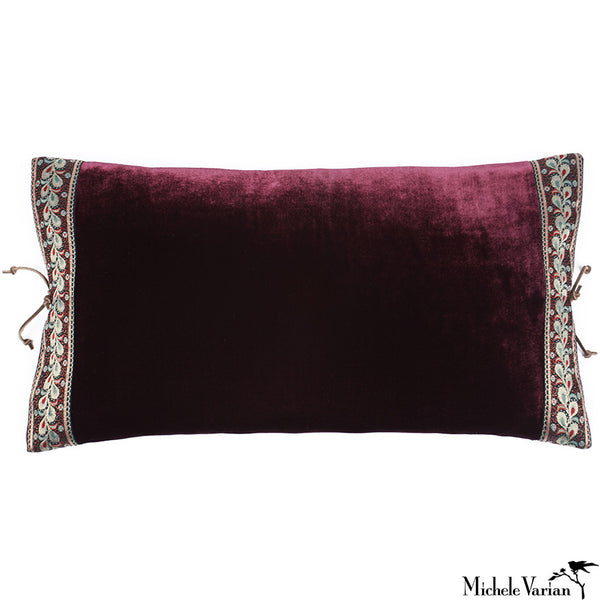 Silk Velvet Pillow Shiraz 12x22