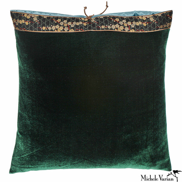 Silk Velvet Pillow Spruce 20x20