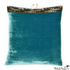Silk Velvet Pillow Teal 20x20