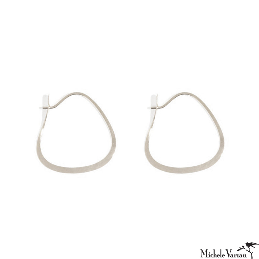Small Triangle Sterling Silver Hoops