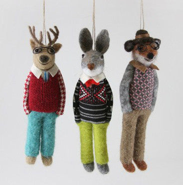 Studious Felted Animals