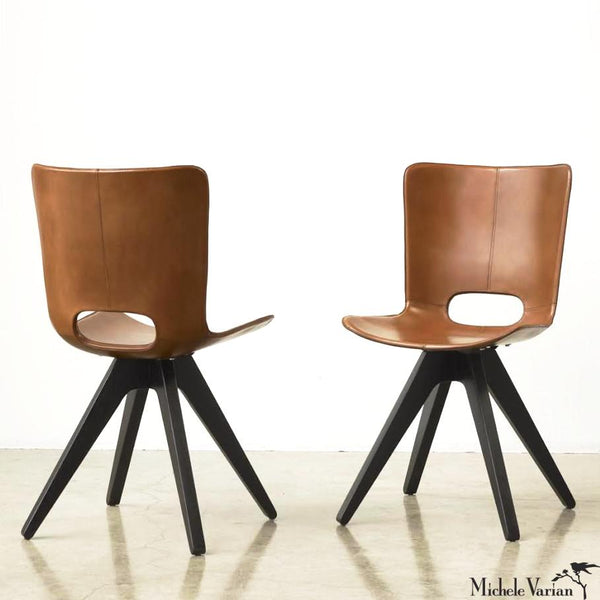 Leather Saddle Chair
