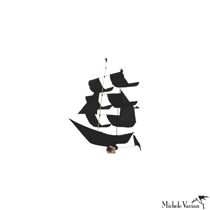 Sailing Ship Kite Black