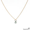 Aquamarine Gold Briolette Necklace