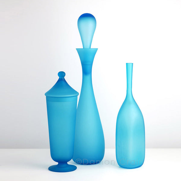 Empoli Glass Satin Blue Group