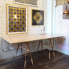 Copper Leg Sawhorse Table