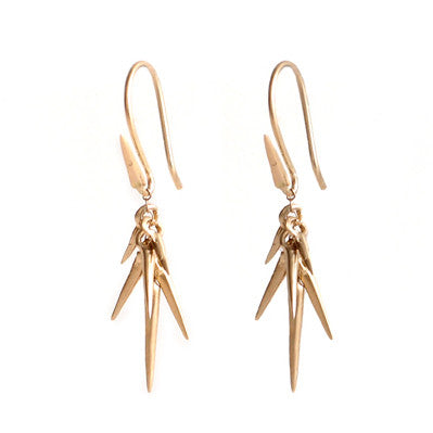 Gold Scatter Point Earrings