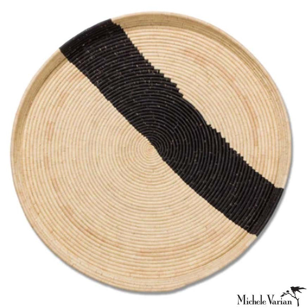 Giant Black Stripe and Natural 34 inch Tray