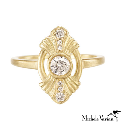 Gold Deco Gatsby Ring