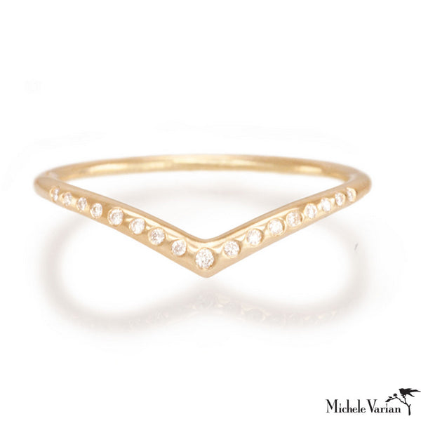 Gold and Diamond Archer Ring