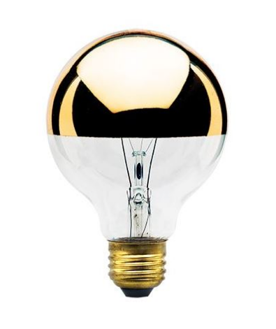 Incandescent Filament Half Gold E26 Base G25 Bulb