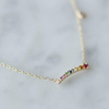 Multi Gems Rainbow Gold Necklace