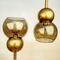 Brass Double Bubble Pendant Light Large 8 inch