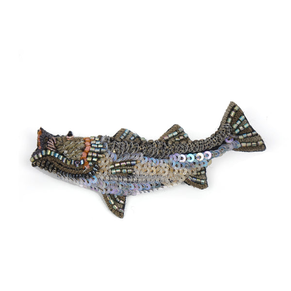 Sea Bass Brooch Pin