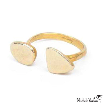 Brass Double Pebble Ring