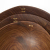 Ellipse Bowls in Rosewood with Brass Inlay