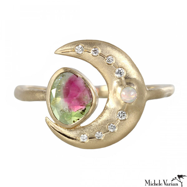 Shimmering Moon Tourmaline Ring