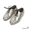 Pair of Miniature Silver Wingtip Shoes