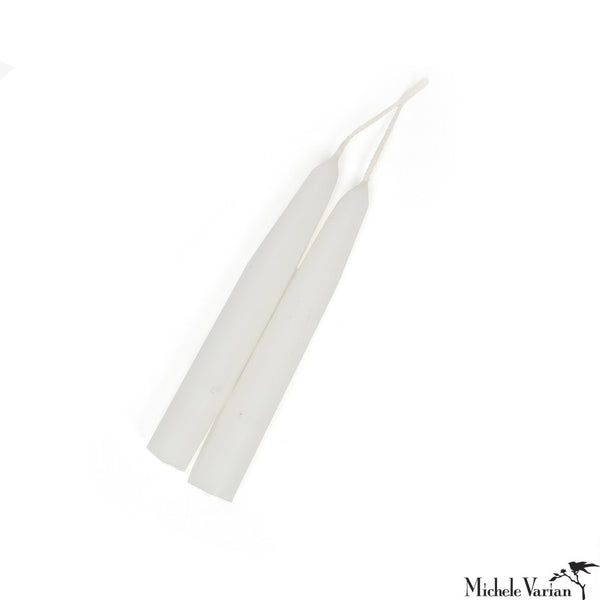 Short White Taper Candles