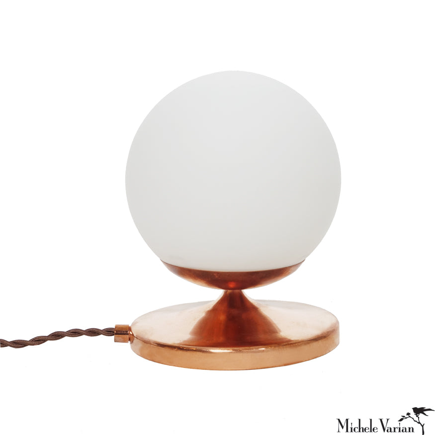Shorty Copper Globe Lamp