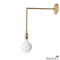 Simple Extended Arm Brass Sconce Light Fixture