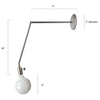 Simple Extended Arm Steel Sconce Light Fixture