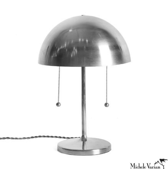 Chrome Simplistic Spun Table Lamp