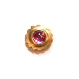 Single Pink Tourmaline Petal Stud Earring
