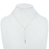 Frosted Diamond Lariat Necklace
