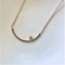 Rose Gold Skinny Half Moon Necklace Petite