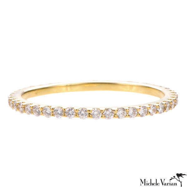 Skinny Pave Diamond Eternity Band