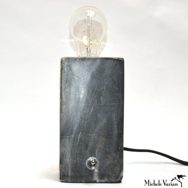 Slate Marble Block Table Light