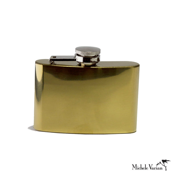 Small Reflective Brass Flask