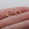 Ear Hugging Gold Hoop Earring