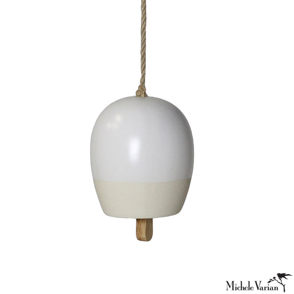 Small Matte White Ceramic Bell