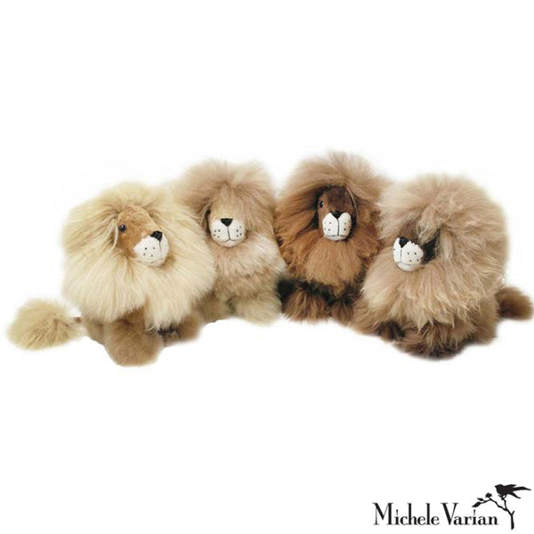 Alpaca Fur Small Lion Toy