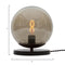 Black Marble And Glass Globe Table Light Small
