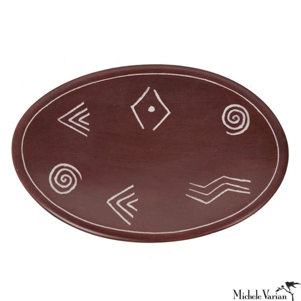 Etched Soapstone Catchall Rust
