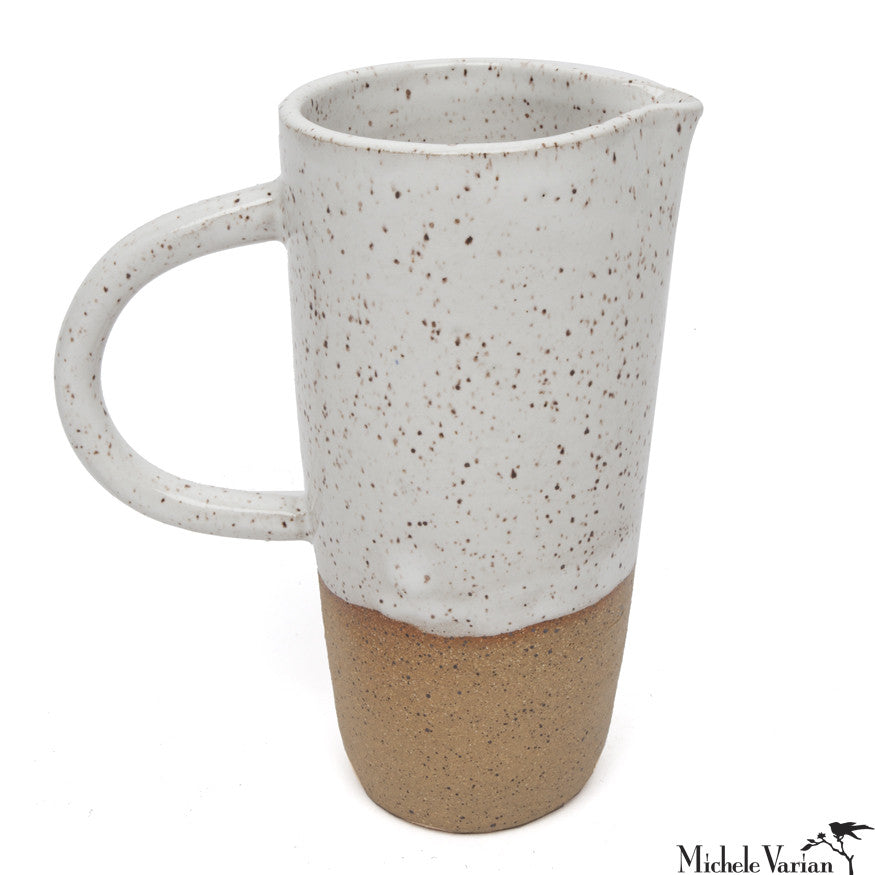 Stoneware Pitcher with White Glaze