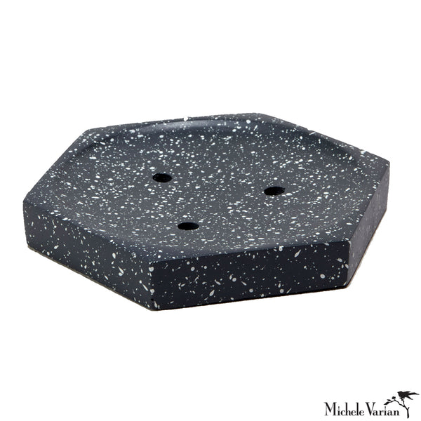 Slate Speckled Cement Soap Dish
