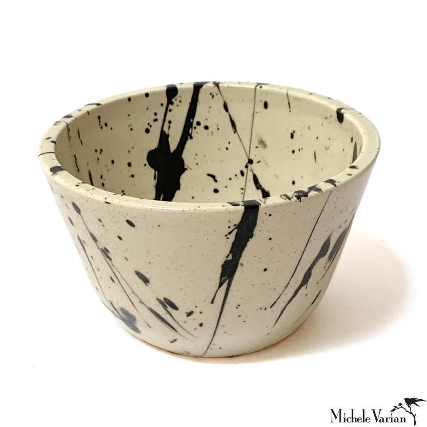 Black and White Splatter Poke Bowl