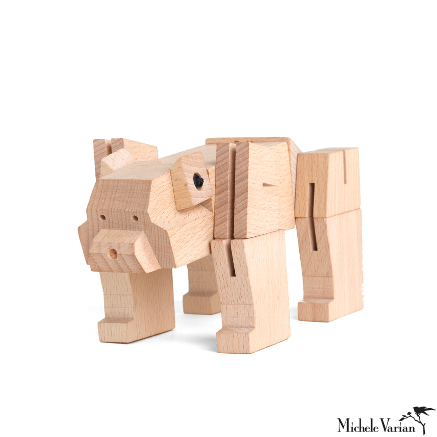 Wooden Block Bear