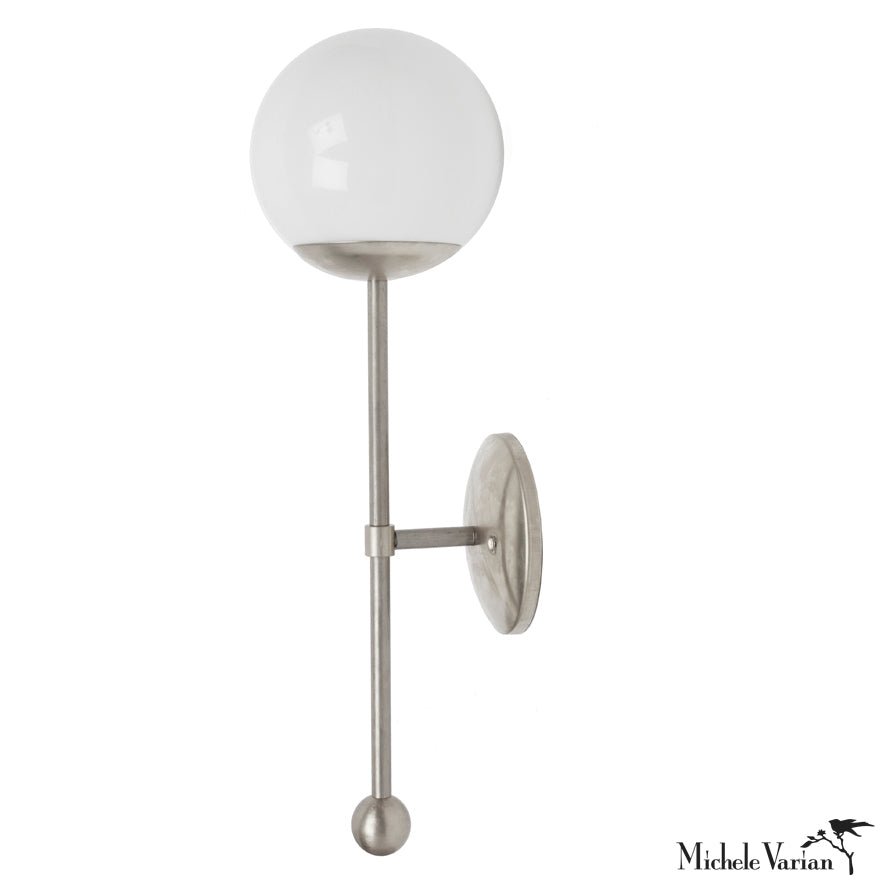 Steel Globe Sconce Light