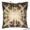Printed Linen Pillow Starburst Olive 16x16