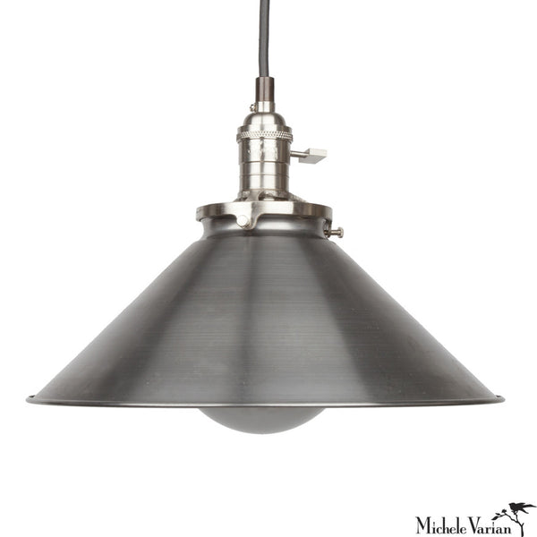 Steel Funnel Pendant Light 12""
