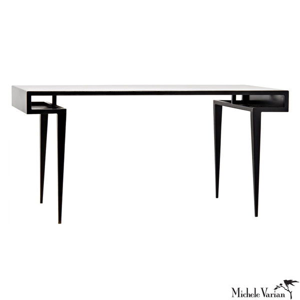 Stiletto Blackened Metal Desk FLOOR MODEL